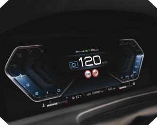 New Rexton Y450 12.3-inch Full-digital Cluster